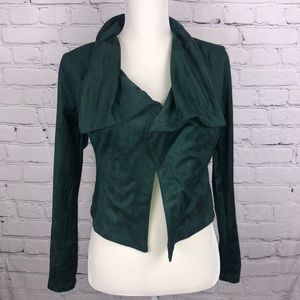 NEW! Romeo & Juliette Couture Green Suede Jacket